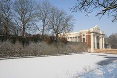 Porte de Menin en hiver Photographie stock libre de droits