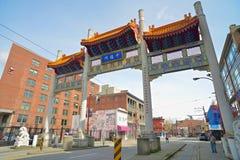 Porte de millénaire dans Vancouvers Chinatown, Canada Image libre de droits