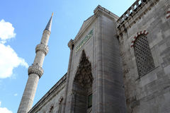 Porte de mosquée bleue Image stock