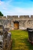 Porte de mur de château Image libre de droits