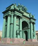 Porte de Narvskije. Voûte triomphale Photo libre de droits