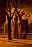 Porte de nuit. photos libres de droits