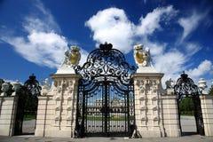 Porte de palais de belvédère, Vienne Image libre de droits