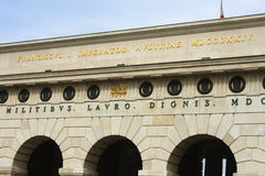 Porte de palais de Hofburg à Vienne Construit dans le Hofburg du 13ème siècle images libres de droits