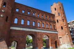 Porte de Palatine à Turin, Italie Images libres de droits