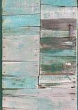 Porte de panneau en bois de bois de chute Photos stock