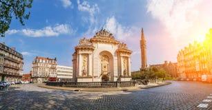 Porte de Paris in Lille France Stock Image