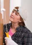 Porte de peinture de femme Images libres de droits