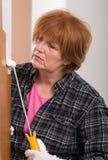 Porte de peinture de femme Photos libres de droits