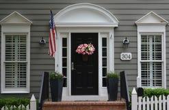Porte de porche du Maryland de ville de Kentlands photos libres de droits