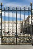 Porte de Royal Palace Madrid Photos libres de droits
