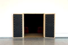 Porte de salle de conférence Images libres de droits