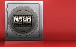 porte de serrure de code de porte de serrure du code 3d Images libres de droits