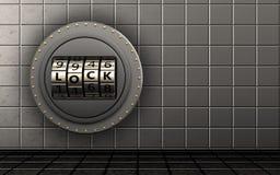 porte de serrure de code de porte de serrure du code 3d Photo libre de droits