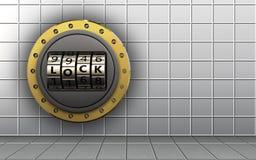 porte de serrure de code de porte de serrure du code 3d Image stock