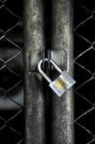 Porte de serrure fermée en métal Photos stock