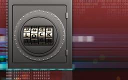 porte de serrure sûre de code en métal 3d Photo libre de droits