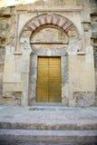 Porte de St Stephen dans la mosquée de Cordoue Photo libre de droits