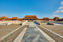 Porte de Taihemen de Harmony Imperial Palace Forbidden City suprême image libre de droits