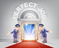 Porte de tapis rouge à votre travail parfait Image libre de droits