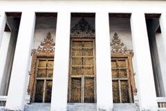 Porte de temple de Bouddha Images libres de droits