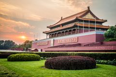Porte de Tiananmen de paix merveilleuse, Pékin, Chine images stock