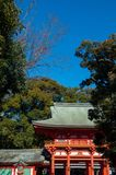 Porte de tombeau de jinja de Hikawa, Omiya, Saitama, Japon Images stock