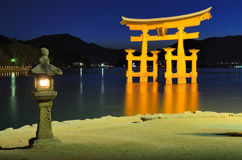 Porte de tores de Miyajima Photo stock