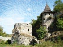 Porte de tour avec la barbacane et le casemate, Kamianets-Podilskyi, Ukraine Image stock