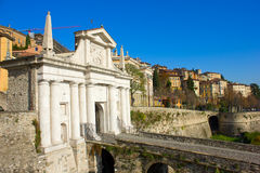 Porte de ville, Bergame, Italie Photos libres de droits