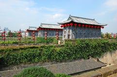 Porte de Zhonghua et horizon de Nanjing, Chine Images libres de droits