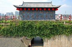 Porte de Zhonghua et horizon de Nanjing, Chine Image libre de droits