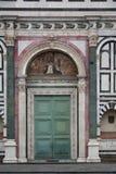 Porte decorate della chiesa Fotografia Stock