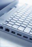 Porte del collegamento del computer portatile Fotografie Stock Libere da Diritti
