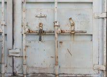Porte del container del metallo doppie fotografie stock libere da diritti