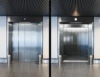Porte dell'elevatore Immagine Stock