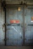 Porte dell'elevatore in vecchia costruzione Fotografia Stock