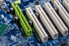 Porte della scheda madre del computer Immagine Stock Libera da Diritti