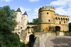 Porte des allemands (de poort van Germen), Metz Stock Fotografie