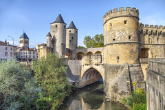 Porte des Allemands (German's Gate) in Metz Royalty Free Stock Photography