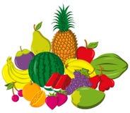Porte des fruits la composition images stock