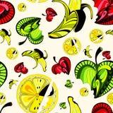 Porte des fruits la configuration sans joint Photo stock