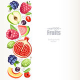 Porte des fruits la verticale de fond Photographie stock
