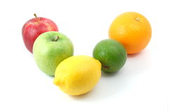 porte des fruits le blanc Image stock