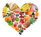 porte des fruits le coeur images stock