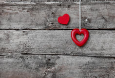 Porte des fruits le coeur de la plaque Photographie stock libre de droits
