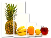 Porte des fruits le collage Image libre de droits
