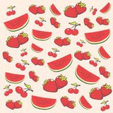 Porte des fruits le fond illustration stock