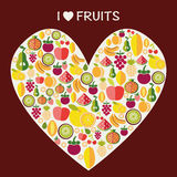 Porte des fruits le fond - illustration Photo libre de droits