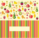 Porte des fruits le fond - illustration Images libres de droits